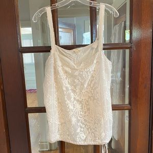 Lacy embroidered tank